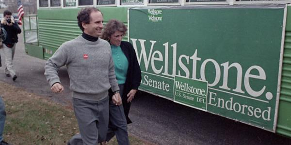 Paul Wellstone and his green bus